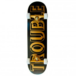 "Skateboard Trouble Black Gold 8,0"" / 8,25"""