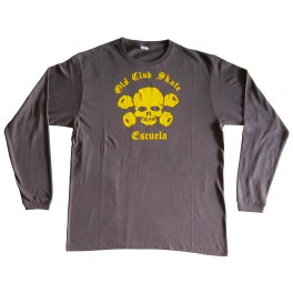 Camiseta OCSE M/L Unisex Dark Gray & Yellow