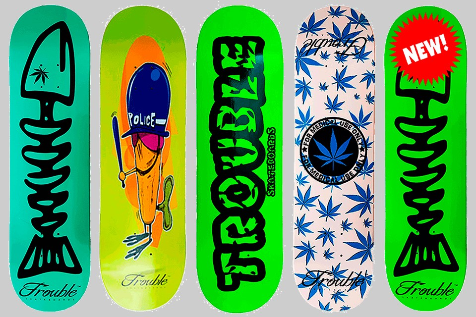 Trouble Skateboard Decks