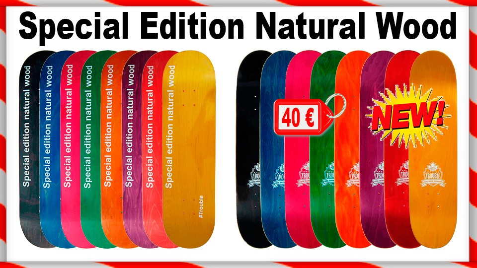 Troule Special Edition Natural Wood Skateboard Decks