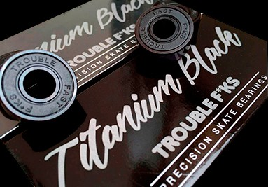 Trouble Titanium Black Skateboard Bearings