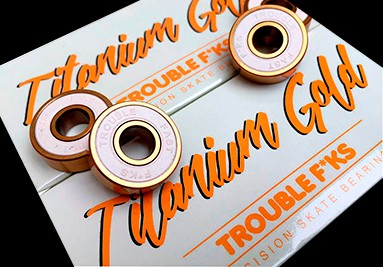 Trouble Titanium Gold Skateboard Bearings