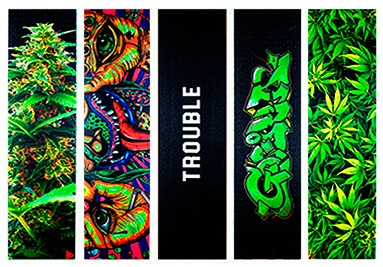 Gorilla Black & Full Colour Skateboard Griptape